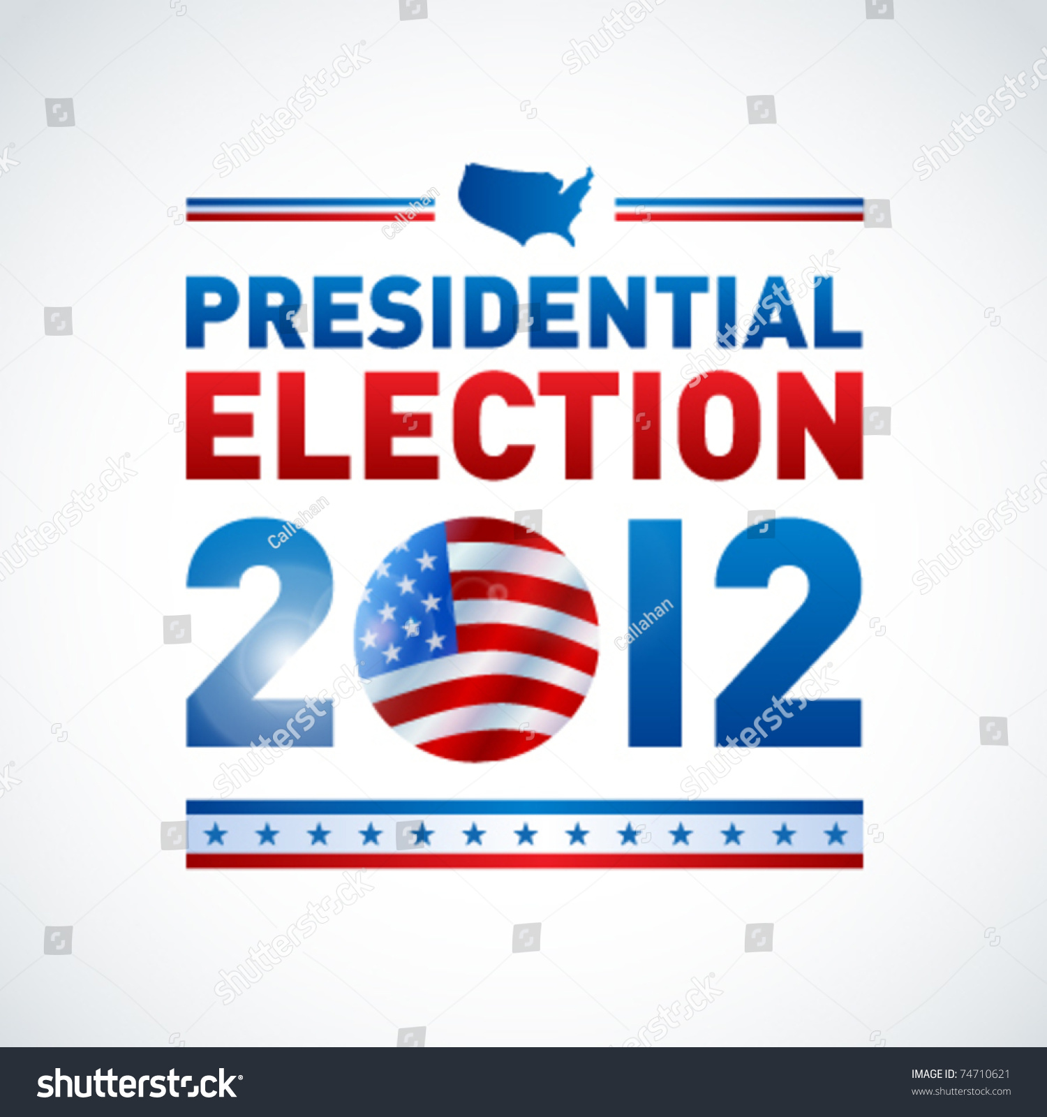 Us presidential election 2012 stock vector 74710621 for For how long do we elect the president