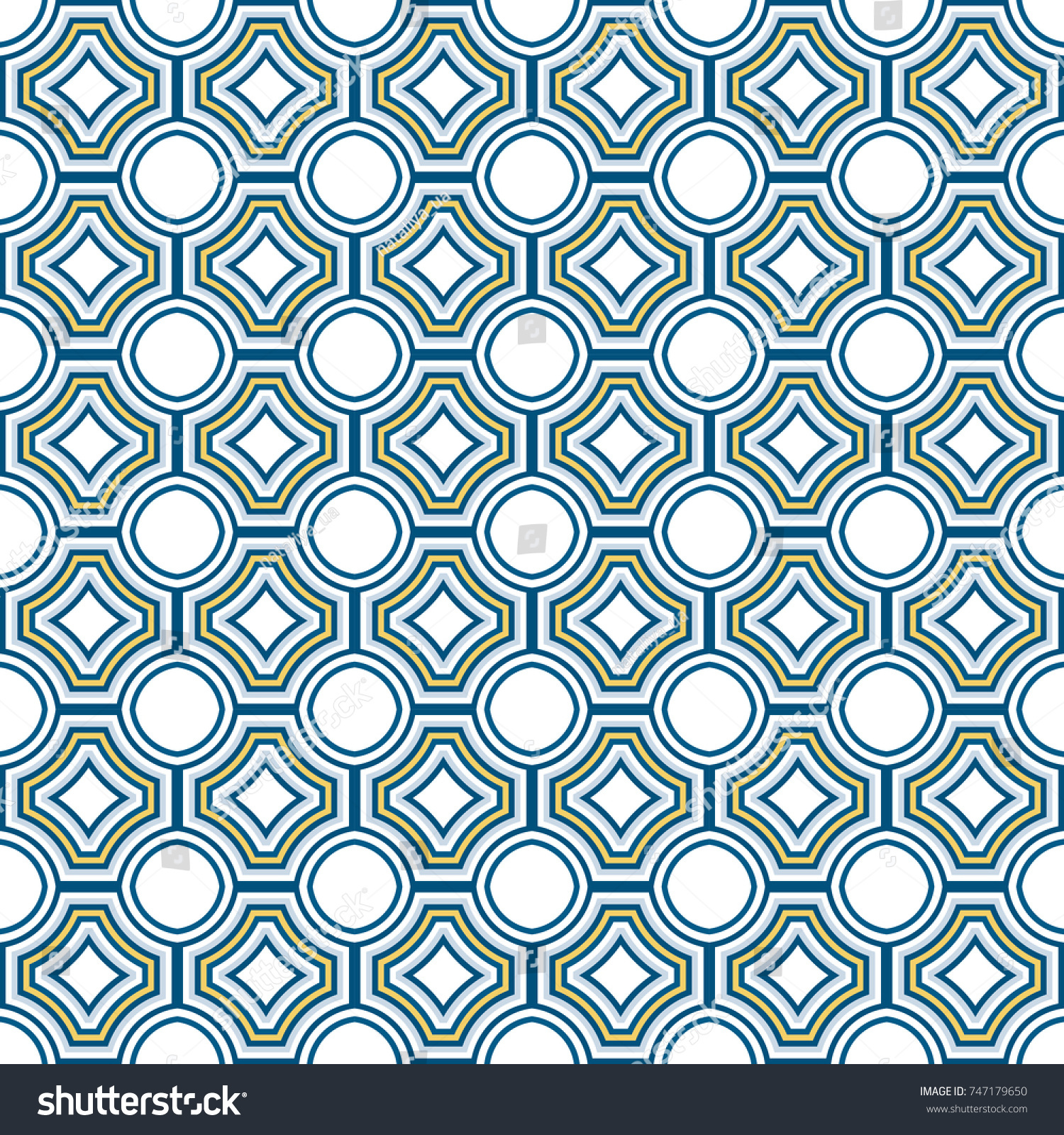 Background Texture Ancient Tile Pattern Seamless Retro Stock Vector ...