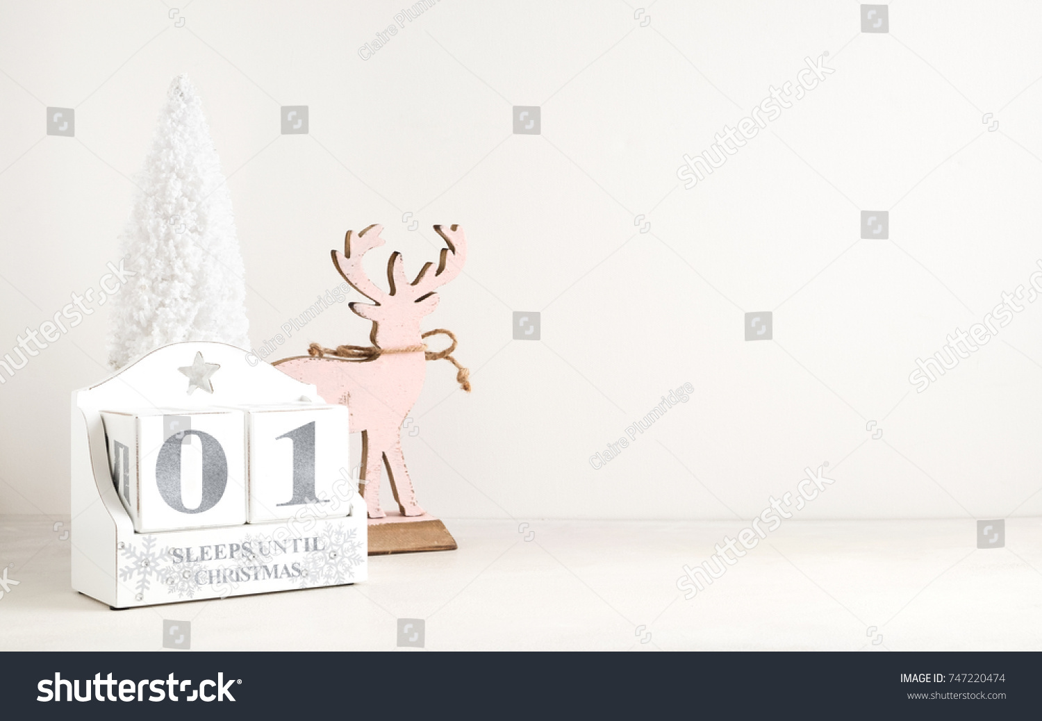 December Calendar Christmas Displays Number Sleepsdays Stock Photo ...