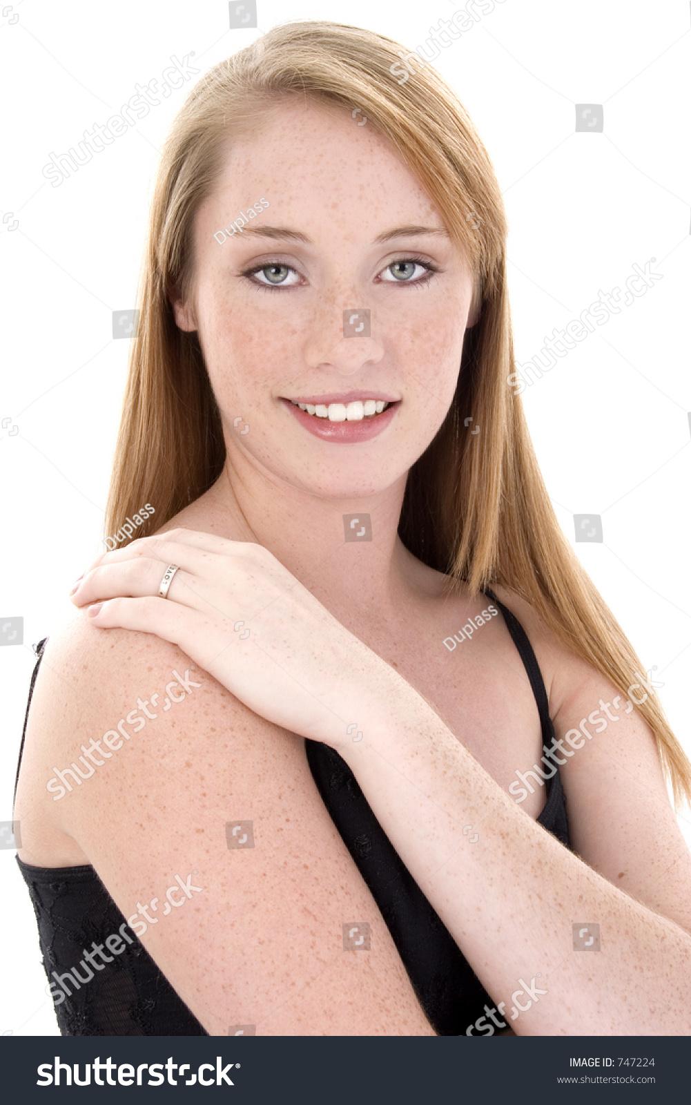 Beautiful 14 Year Old Girl Black Stock Photo 747224
