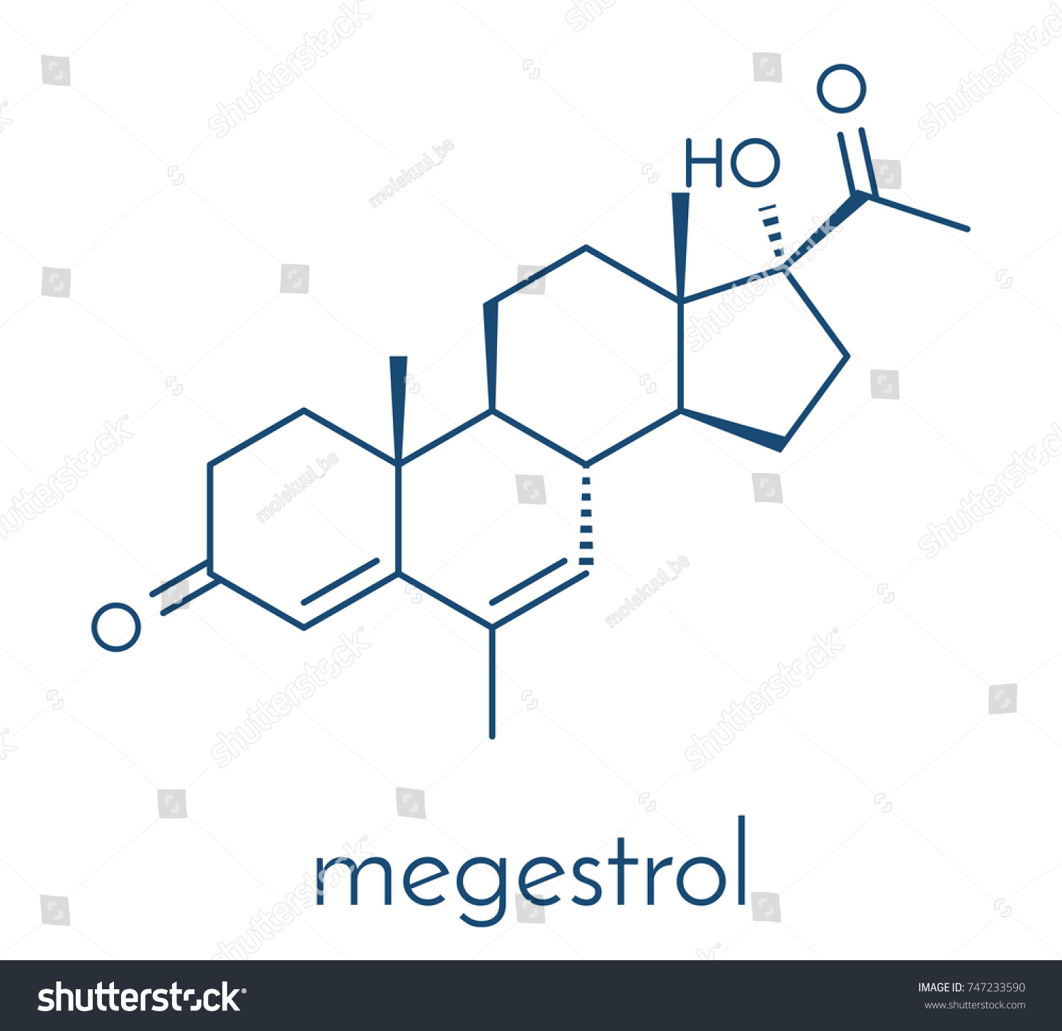 Megestrol molecule megestrol acetate ester megestrol stock vector megestrol acetate the ester of megestrol is used as an appetite stimulant biocorpaavc