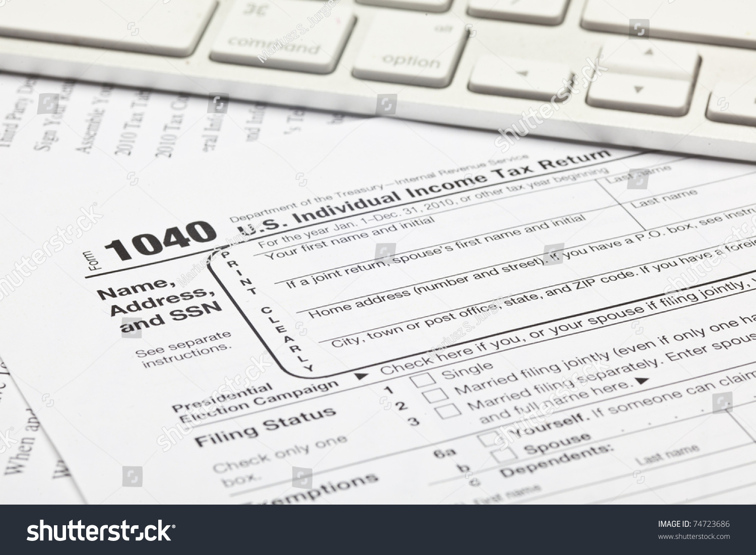 Income Tax Form 1040 Image Collections Free Form Design Examples