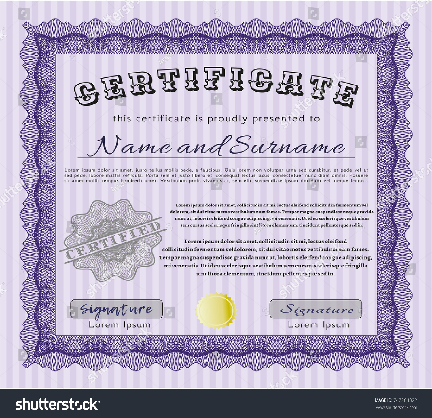 Violet diploma certificate template quality background stock violet diploma or certificate template with quality background artistry design detailed xflitez Images