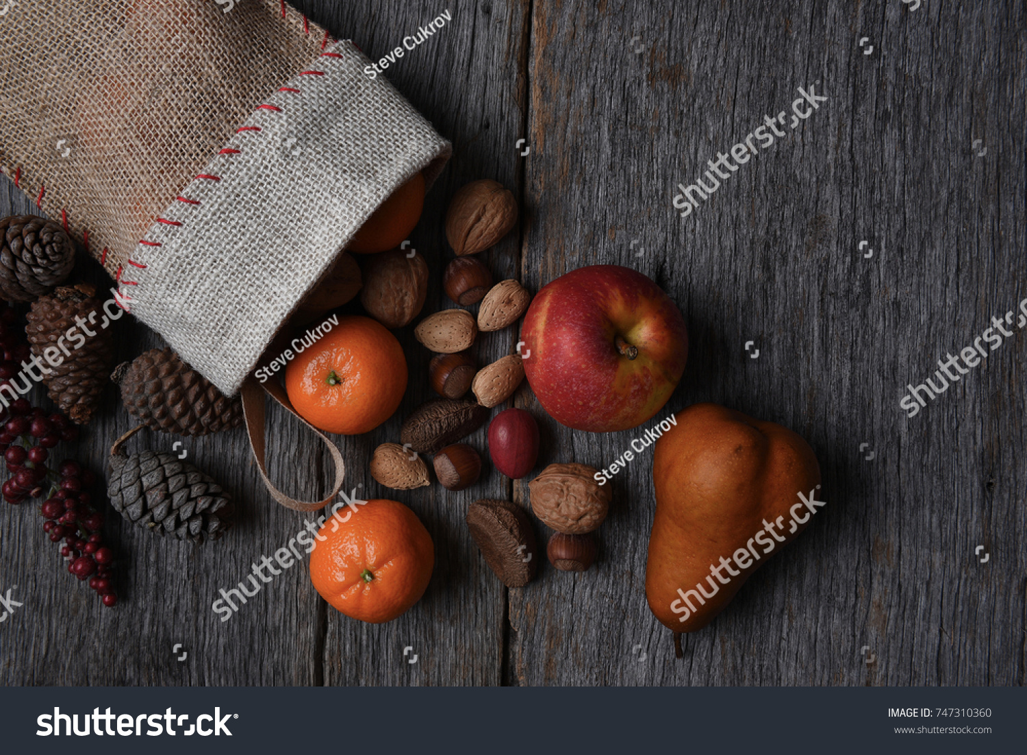 Top View Old Fashioned Christmas Stocking Stock Photo (Royalty Free ...