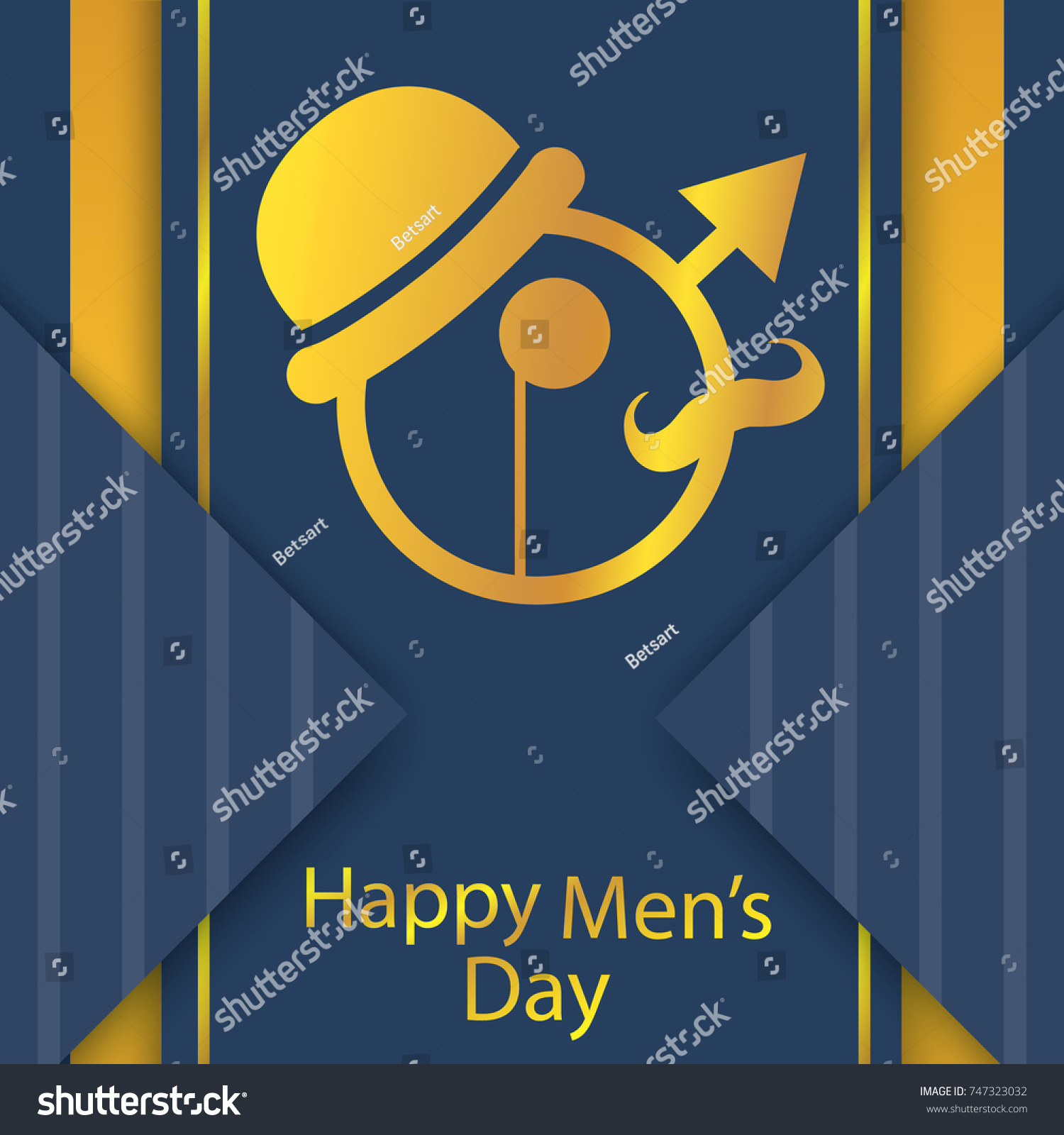 Happy Mans Day Happy Day Greeting Stock Vector Royalty Free