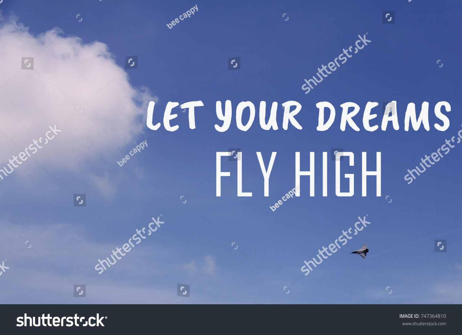 Life Inspiring Quotes Life Inspirational Quotes Let Your Dreams Stock Photo 747364810