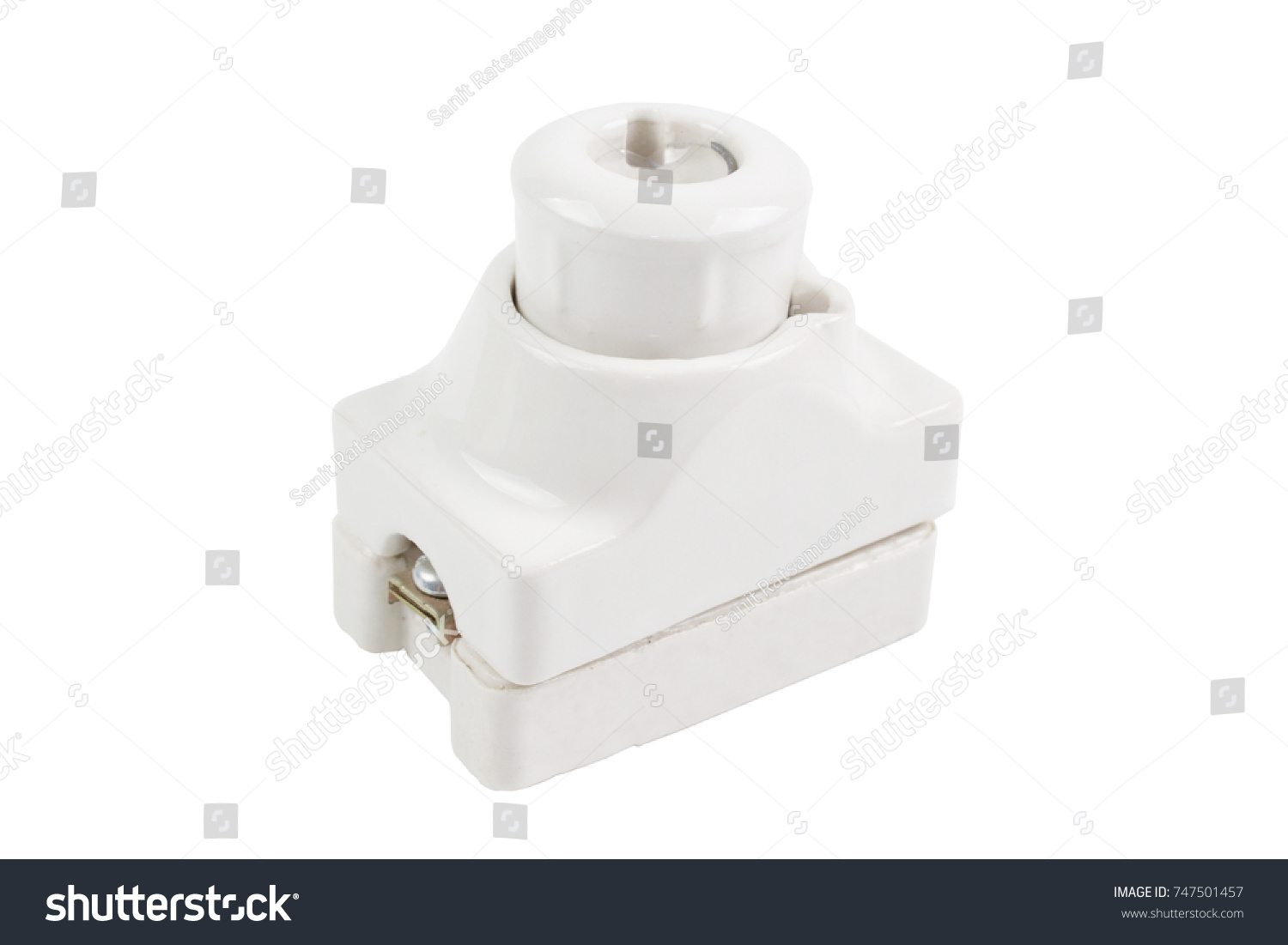 Electrical Cutout cartridge ceramic fuse holder or box. This is Old type of  fuses for