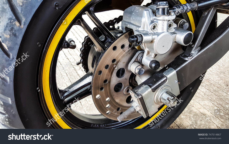 Rear Wheel Disk Brake Motorcycle Stock Photo Edit Now 747514867
