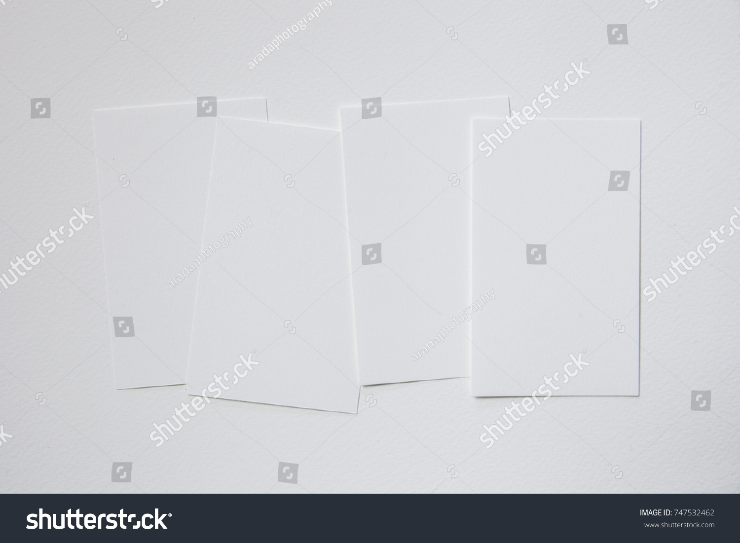 White Paper Blank Business Card Stock Photo 747532462 - Shutterstock
