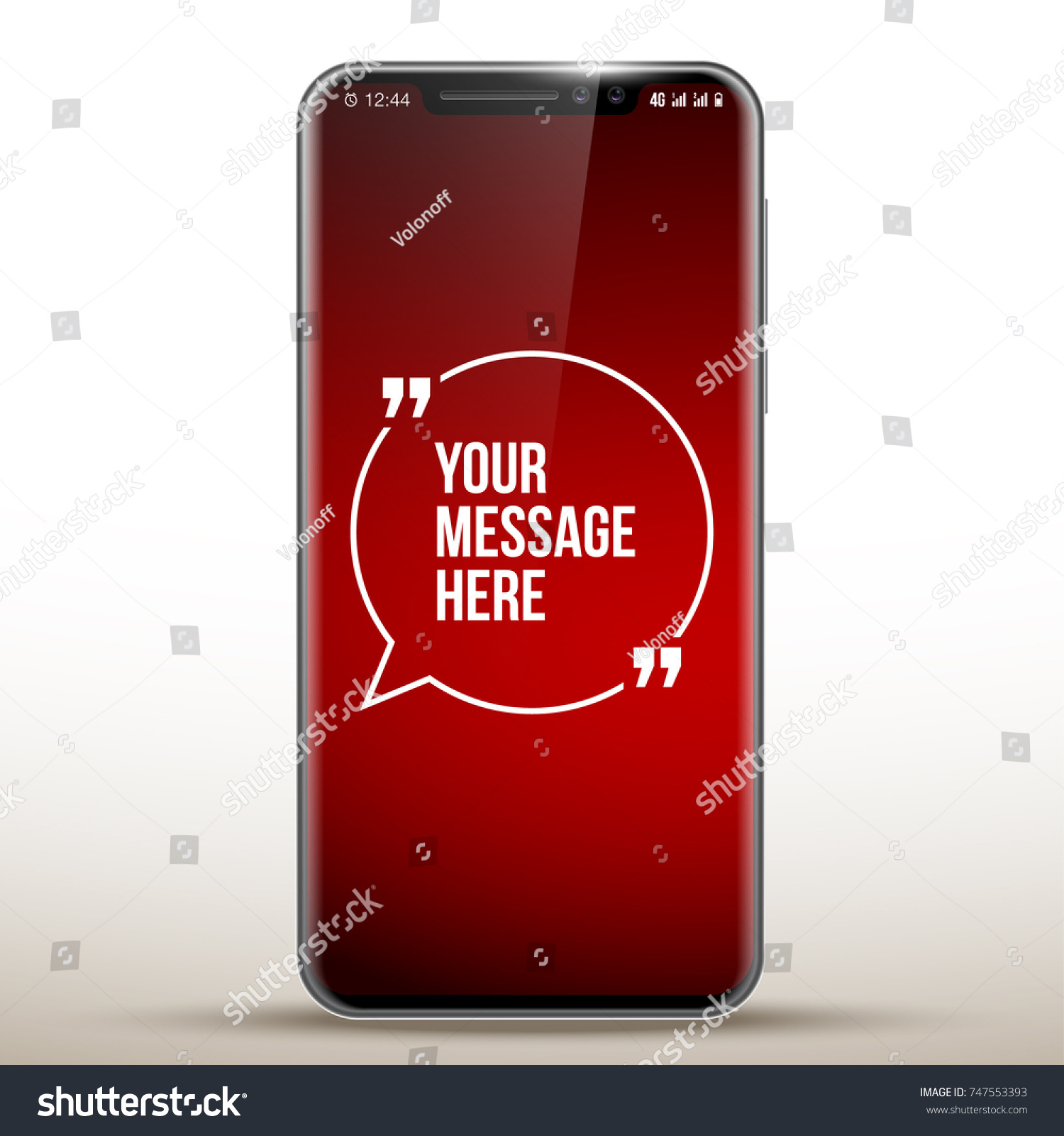 Vector Mobile Apple Iphone X Phone Stock Vector Royalty Free