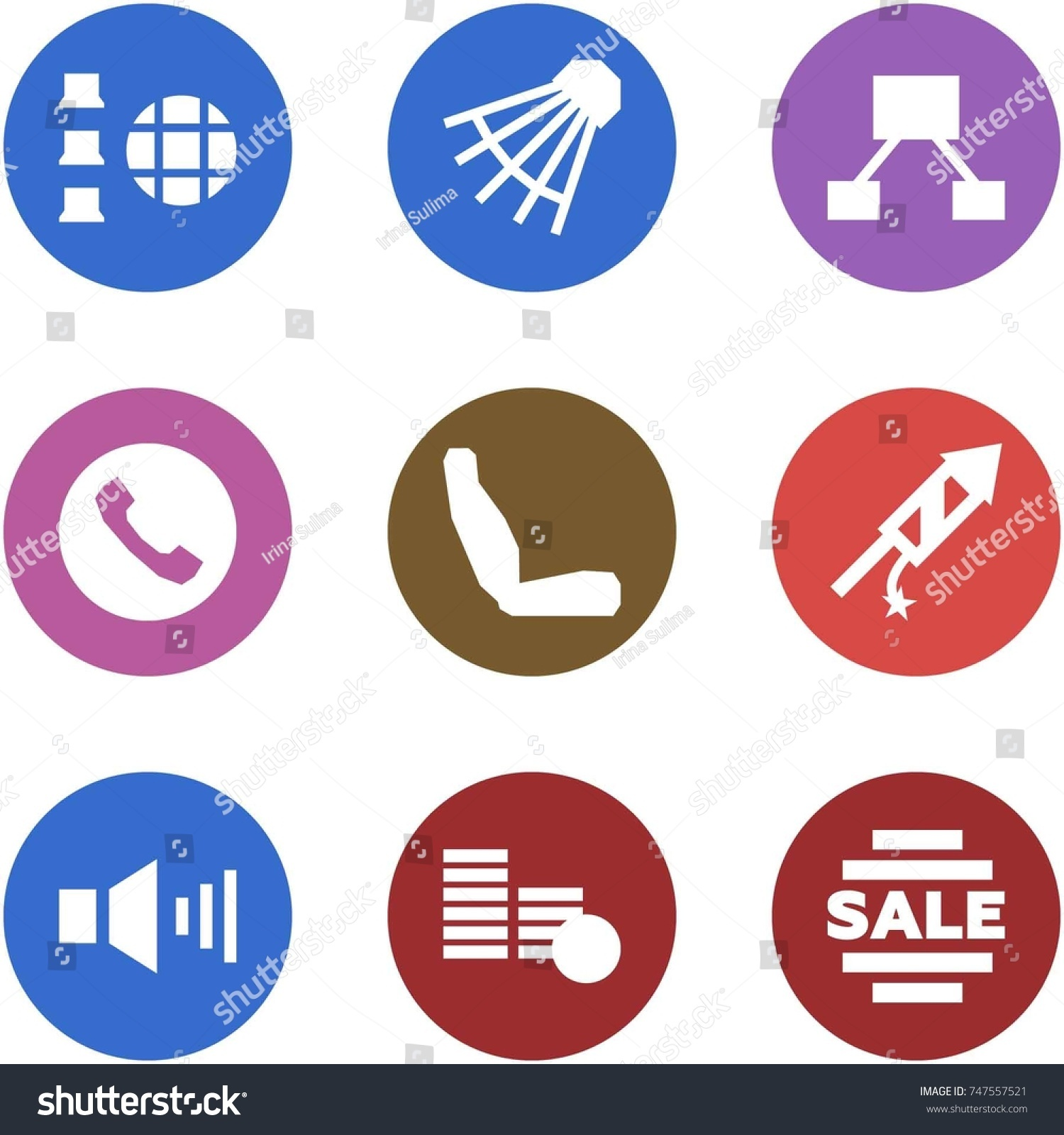 Origami Corner Style Icon Set Network Stock Vector Royalty Free Fireworks Diagram Shuttlecock Hierarchy Phone Seat