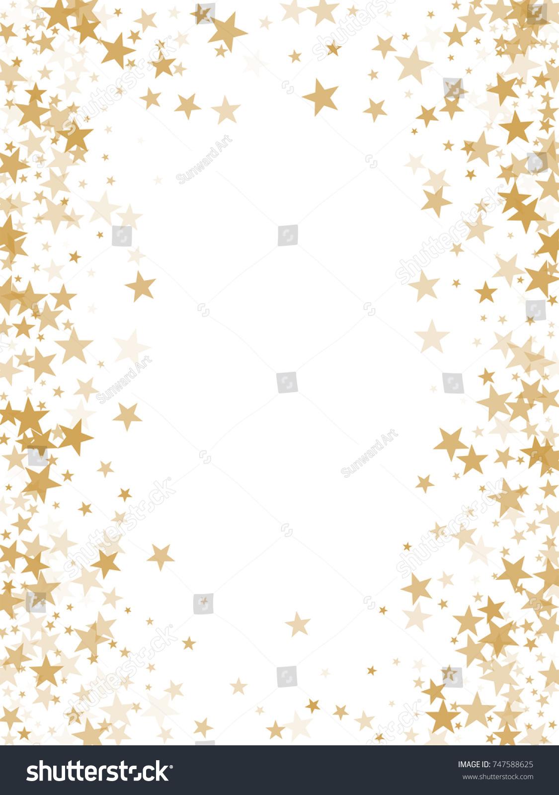 Gold Flying Stars Confetti Magic Christmas Stock Illustration ...