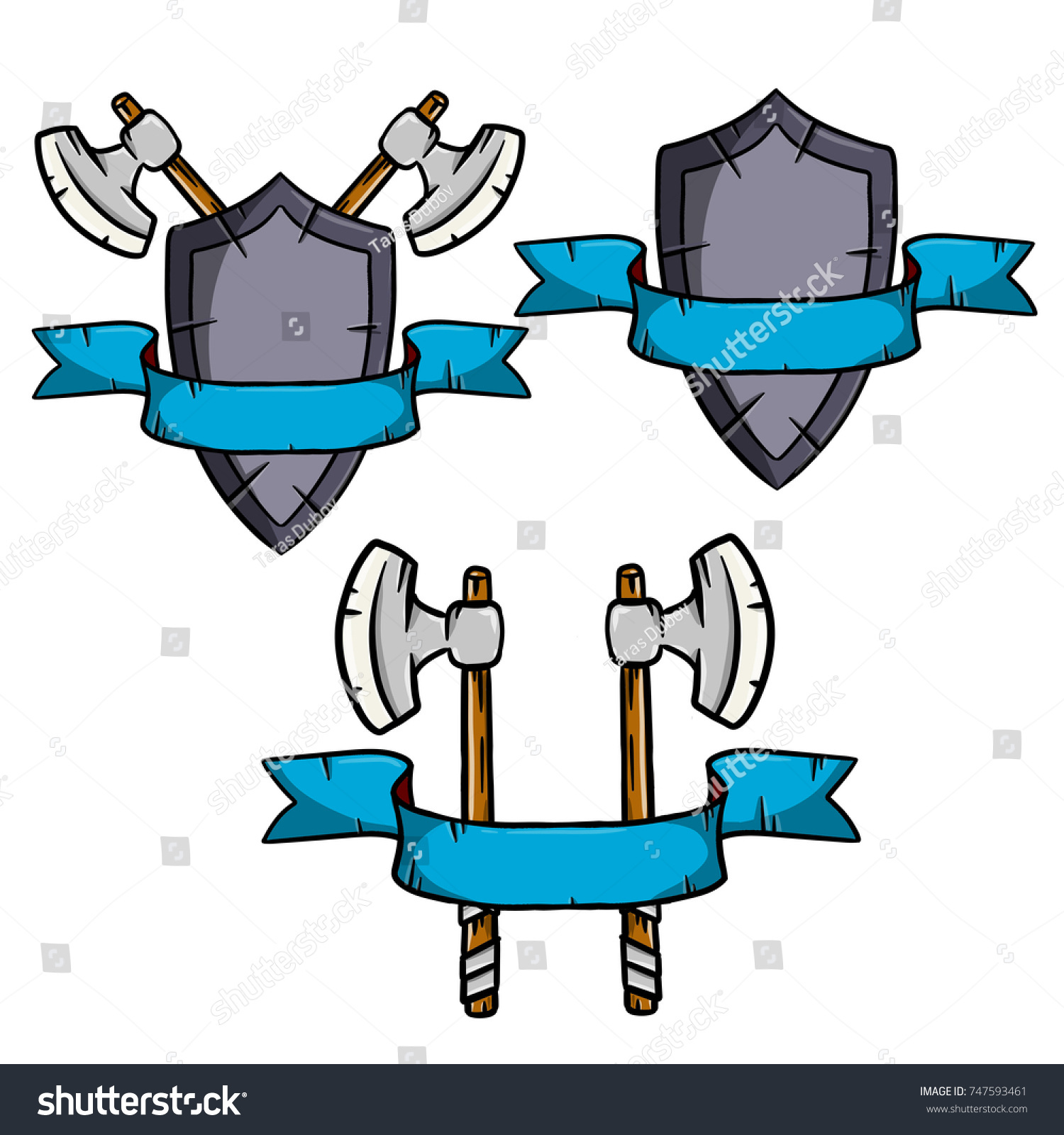 middle ages weapons heraldic coat arms stock vector royalty free