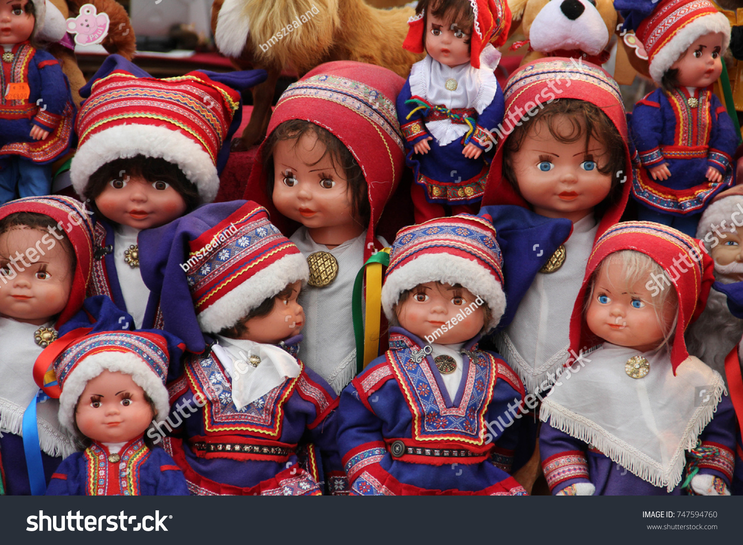 Collection Saami Dolls Dressed Traditional Lapland Stock Photo (Edit ... d19f93408db