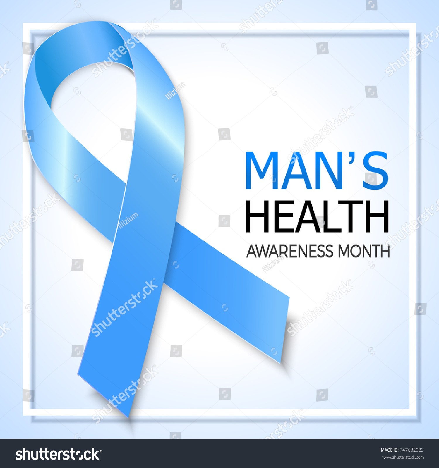 Blue ribbon symbol prostate cancer awareness stock illustration blue ribbon symbol for prostate cancer awareness month background design for men social and health buycottarizona Image collections
