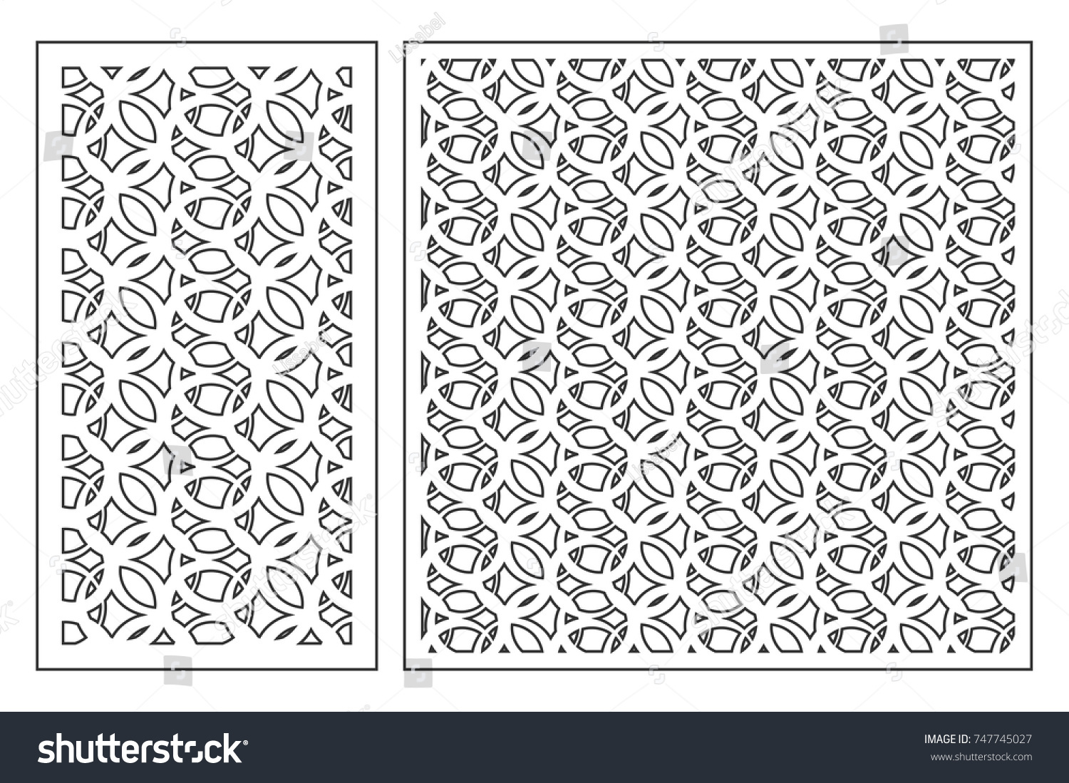 Set Cards Cut Vector Panels Laser Stock Vector (Royalty Free ...