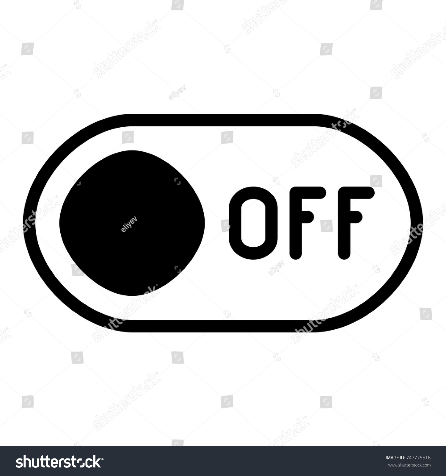 Off Button Icon Off Switch Symbol Stock Vector (Royalty Free ...