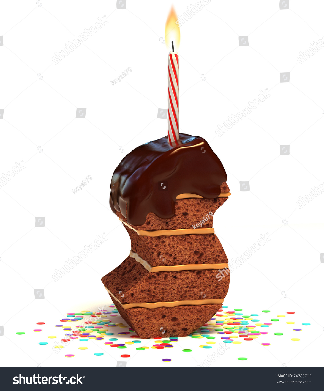 S Shaped Cake Images : Letter S Shaped Chocolate Birthday Cake With Lit Candle ...