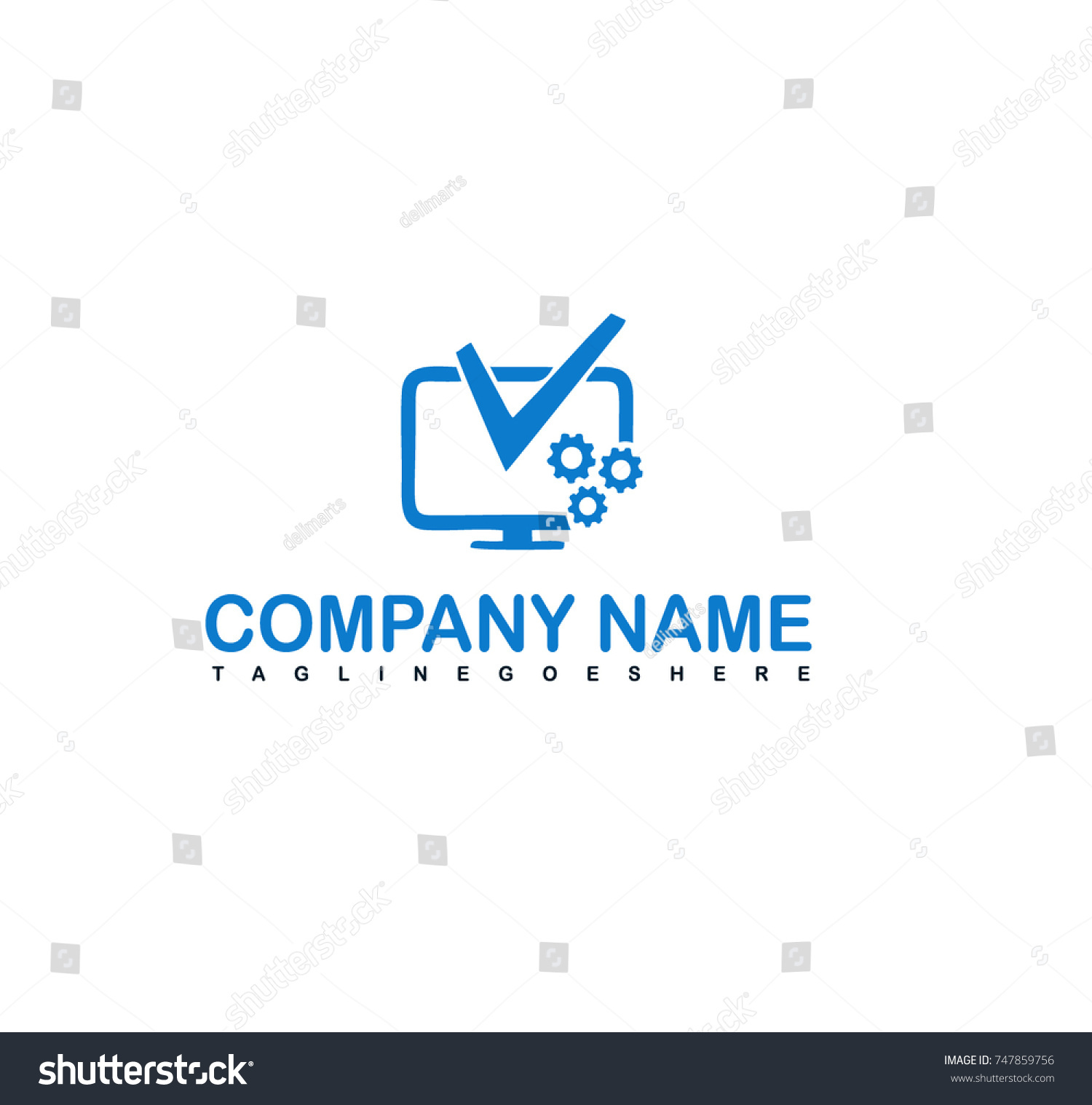 Computer repair logo Stock Vectors Royalty Free Computer