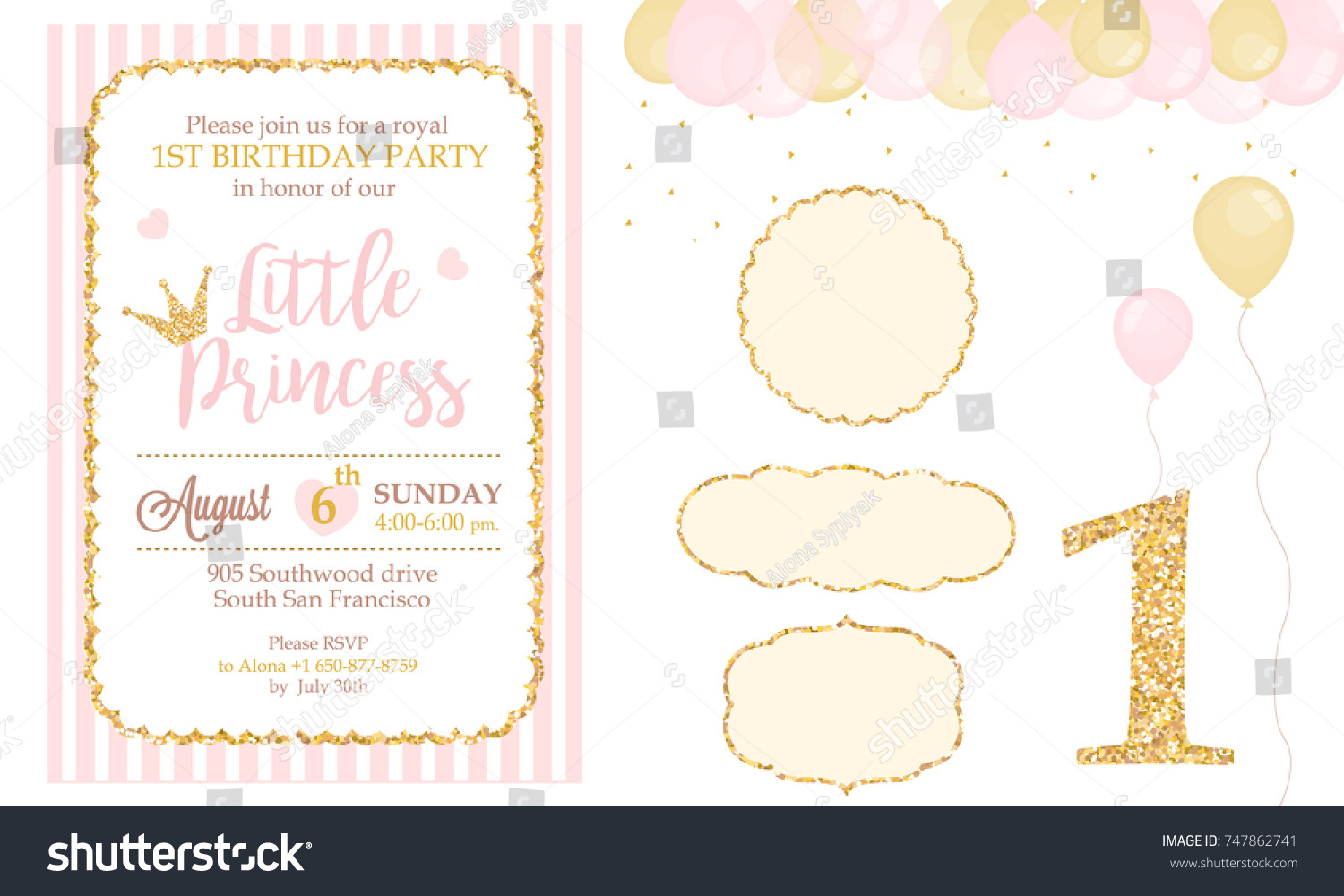 Birthday party card template