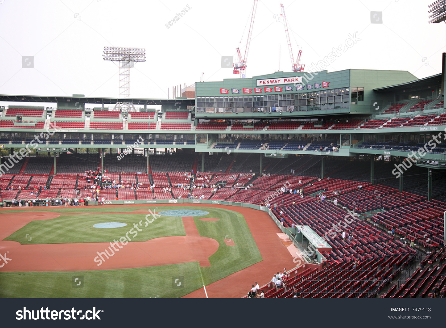 Fenway Park Baseball Stadium In Boston Massachusetts Home To The Red Sox