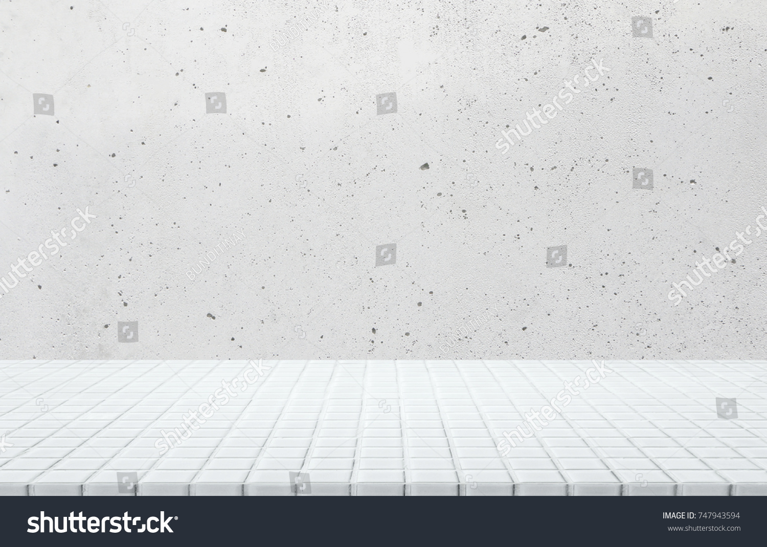 White ceramic mosaic tile table top stock photo 747943594 shutterstock white ceramic mosaic tile table top and background of grey old concrete wall can used dailygadgetfo Gallery