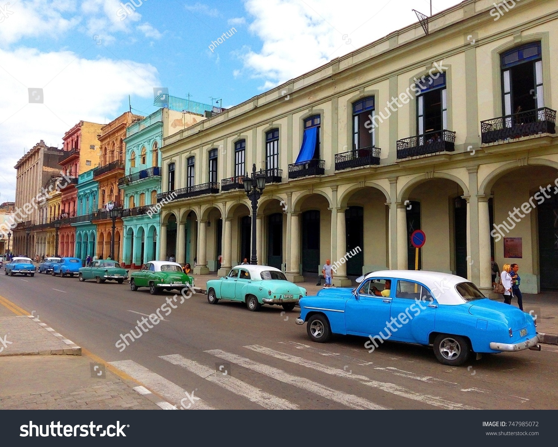 Havana Cuba November 2017 Line Colorful Stock Photo 747985072 ...