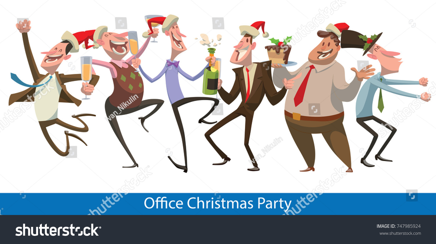 Vector Set Cartoon Images Six Office Stock Vector (Royalty Free ...
