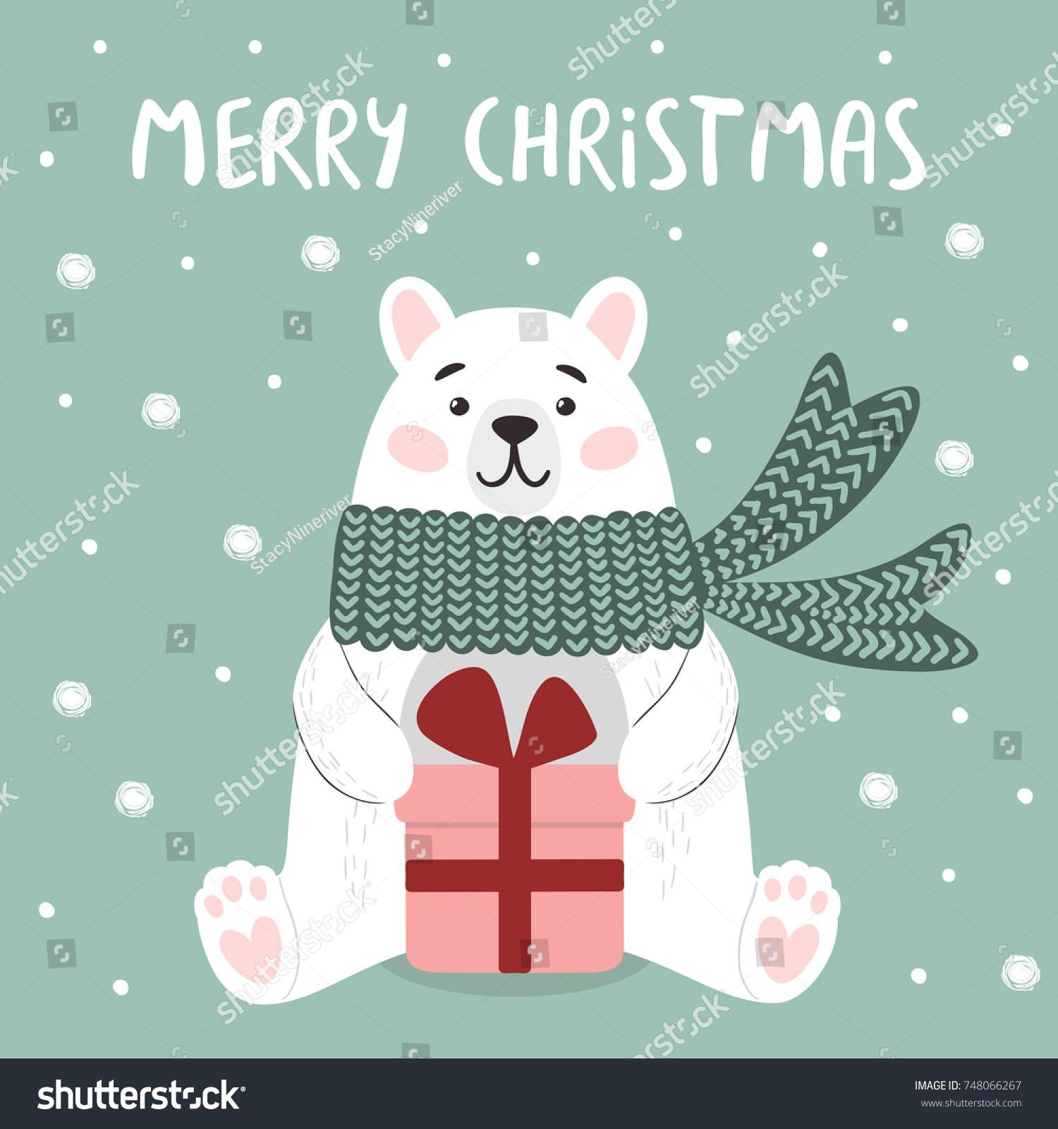 Funny Polar Bear Gift Box Vector Stock Vector (Royalty Free ...