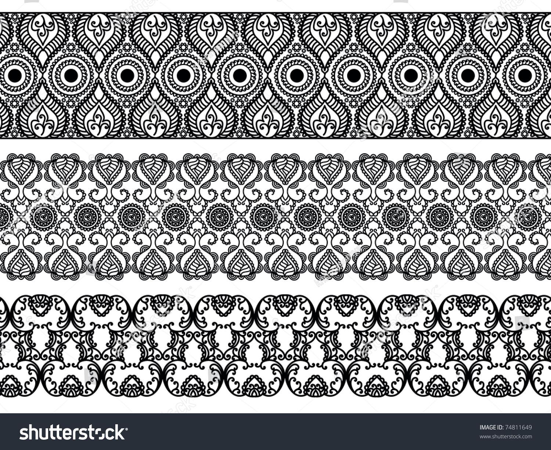 henna inspired banners borders - photo #16