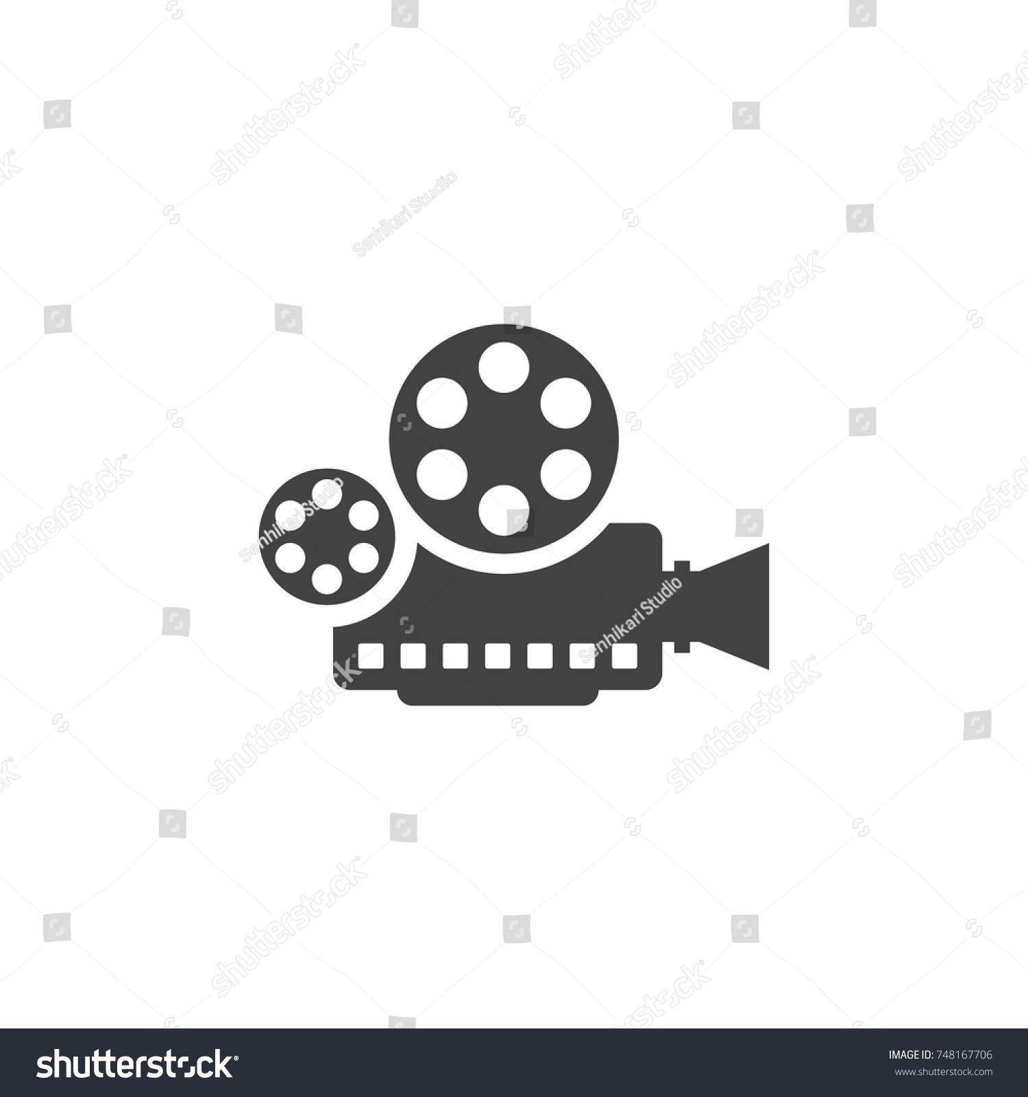 Hollywood video camera film logo vector stock vector 748167706 hollywood video camera film logo vector design freerunsca Choice Image