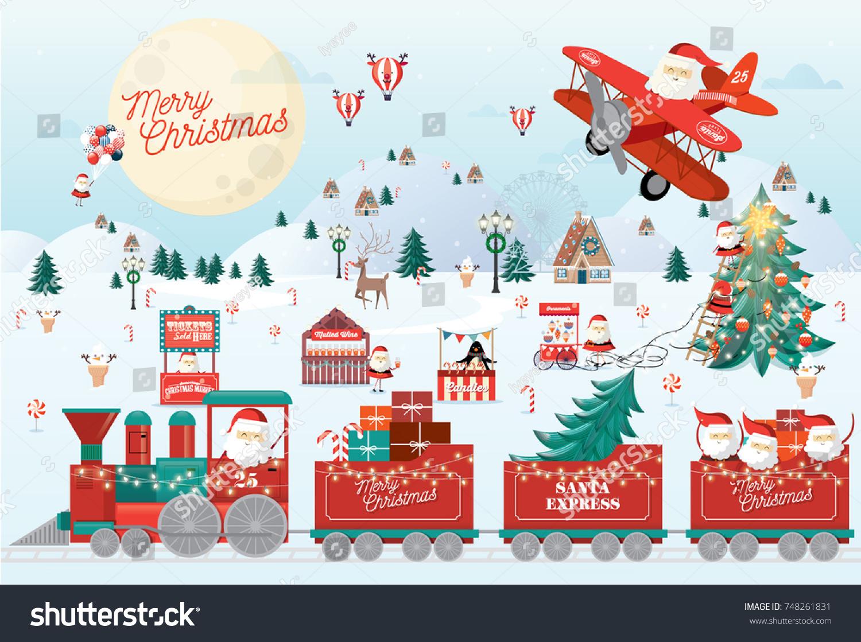 Christmas Greetings Template Vectorillustration Stock Vector