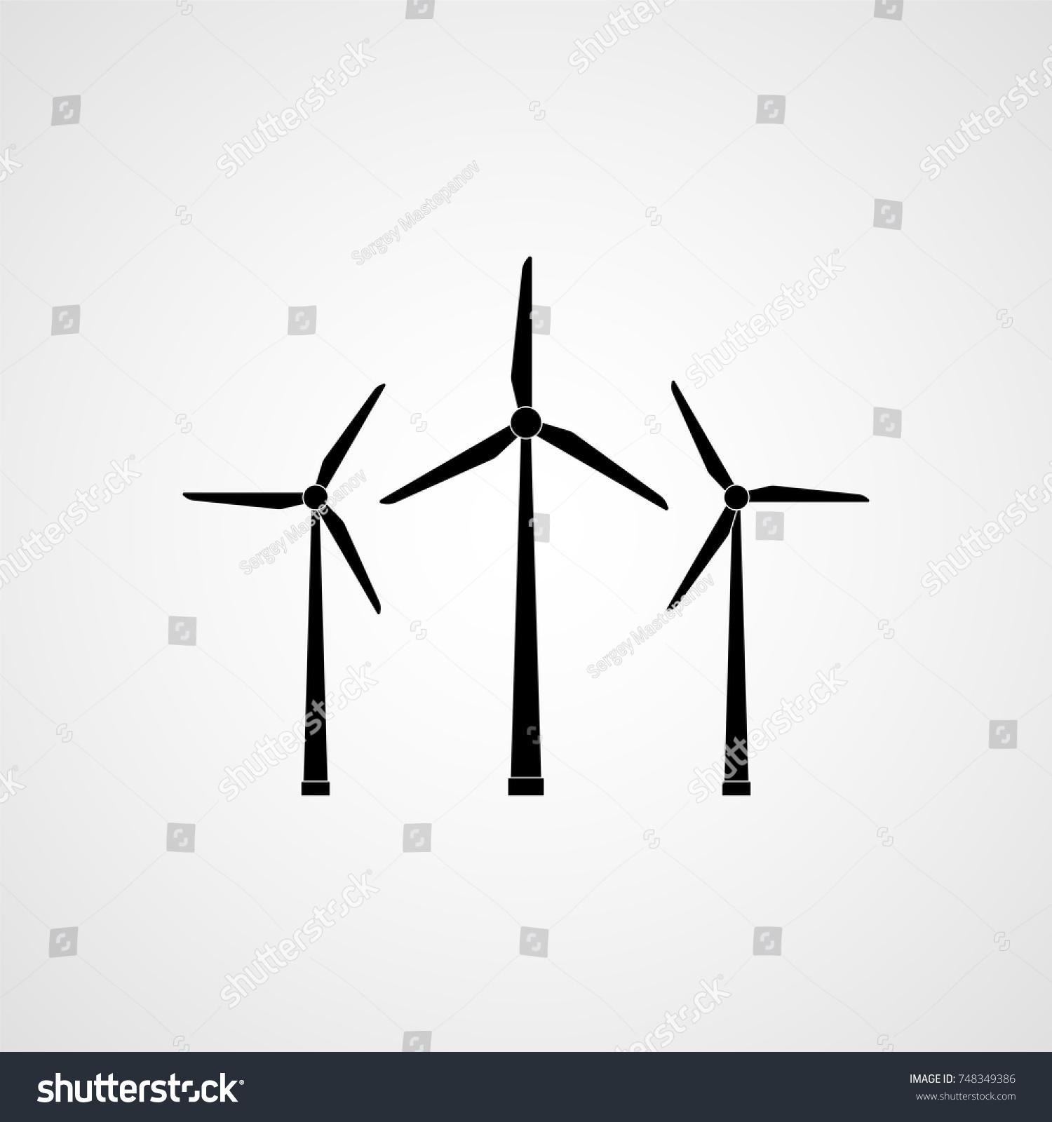 Eco Energy Wind Turbines Vector Illustration Stock Royalty Power Turbine Diagram