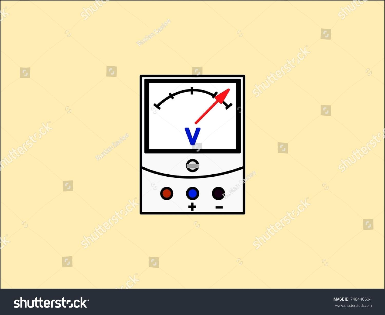 fancy voltage meter symbols embellishment