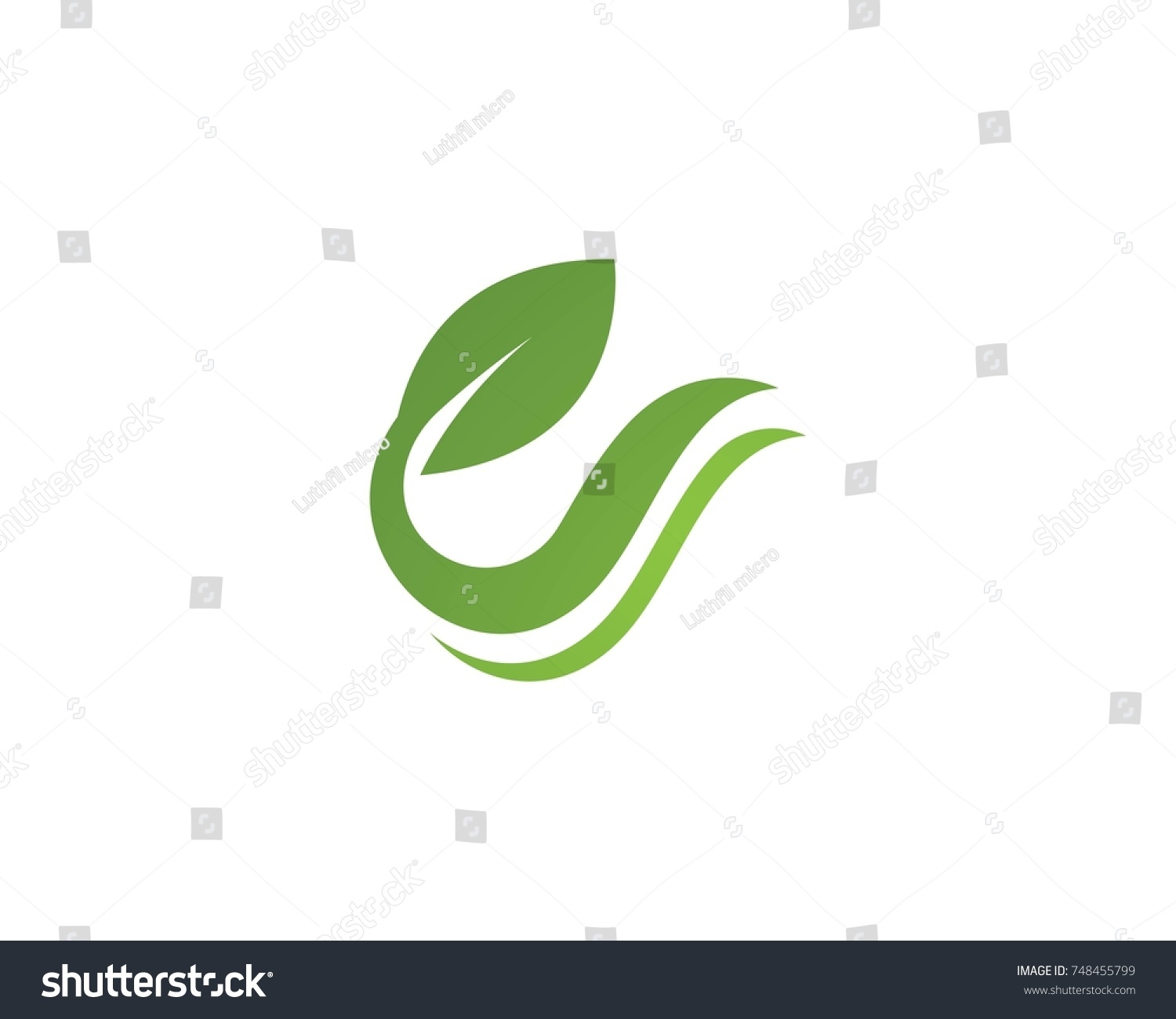 Vector Leaves Green Nature Logo And Symbol Ez Canvas