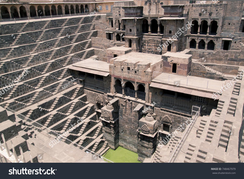 Detail of Chand Baori, Abhaneri, Rajasthan, India бесплатно