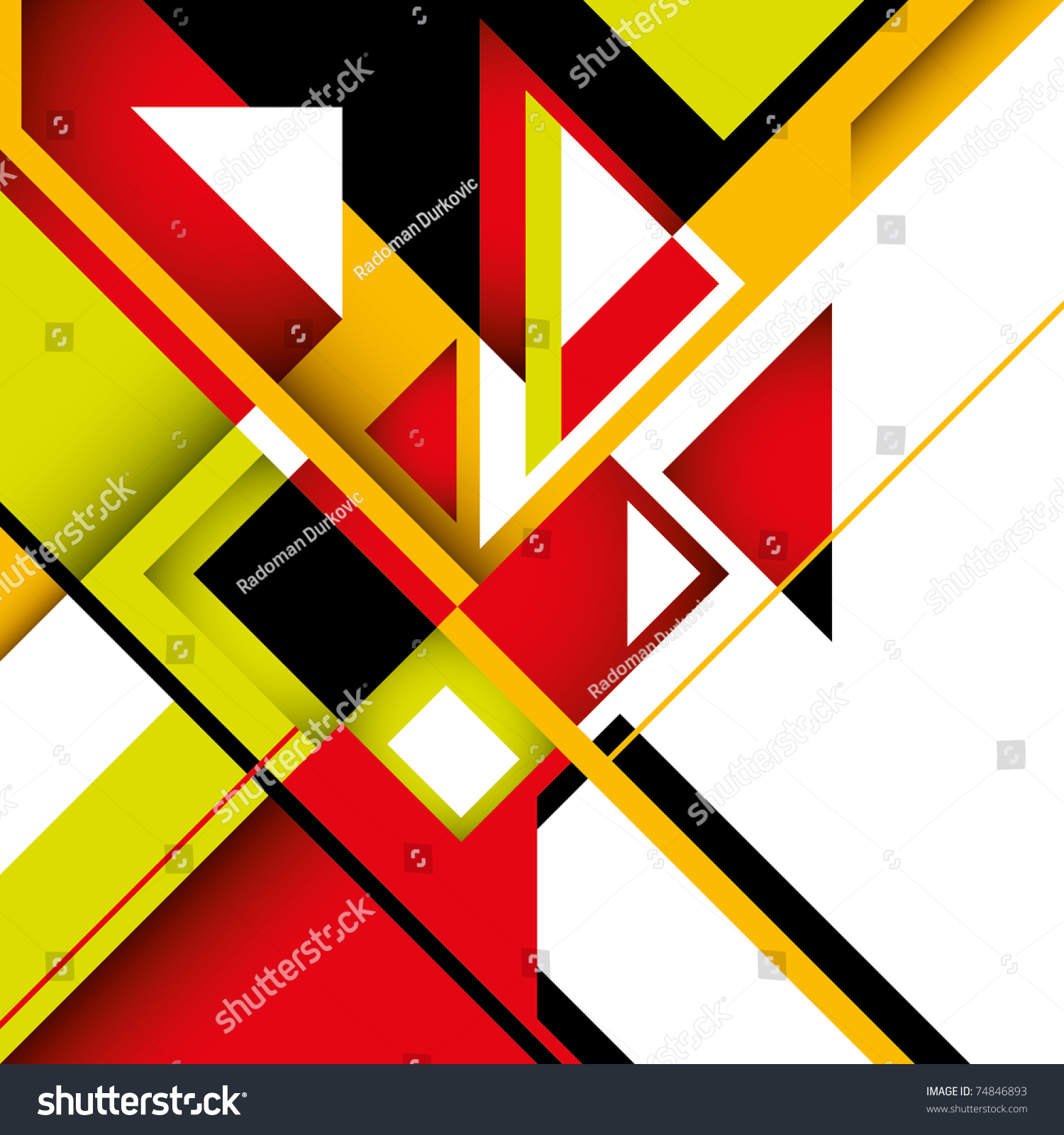 Colorful Graphic Geometric Abstract Shapes Vector Stock ...