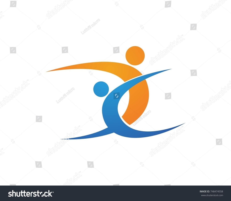 dance logos stock vector 2018 748474558 shutterstock rh shutterstock com dance logos graphic design dance logo design