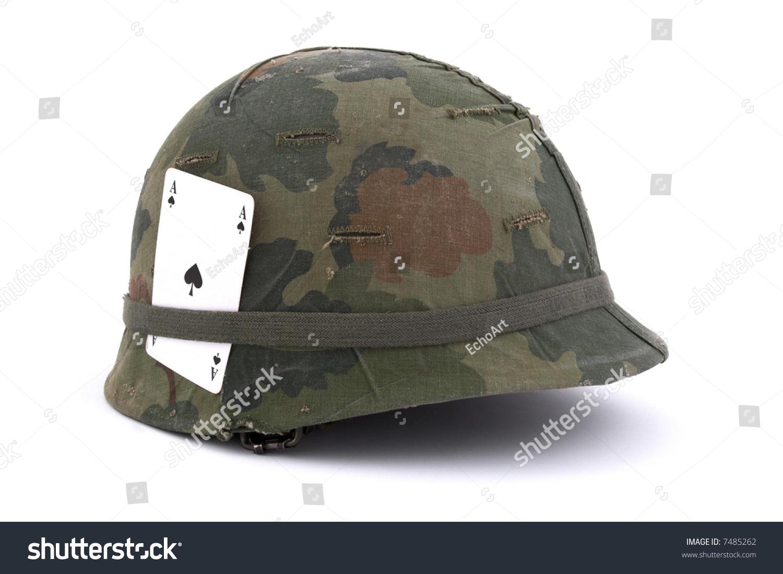 408f38e9 Us Army Helmet Vietnam Era On Stock Photo (Edit Now) 7485262