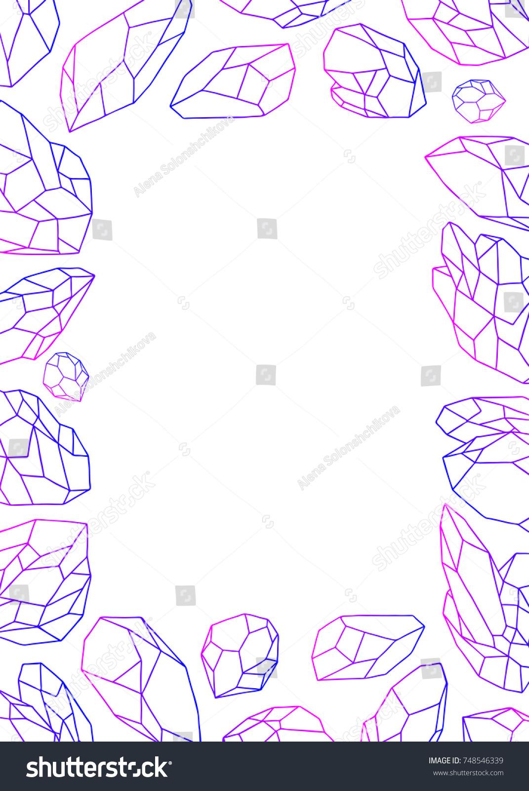 Pink Violet Blue Gradient Gem Stones Vector de stock (libre de ...