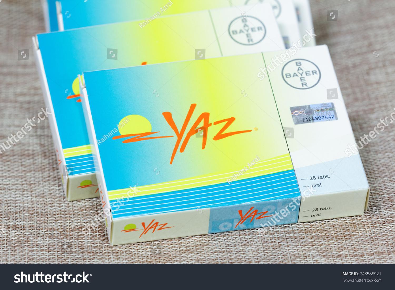 Johor Malaysia November 052017 Oral Contraceptive Yaz By Bayer Stock