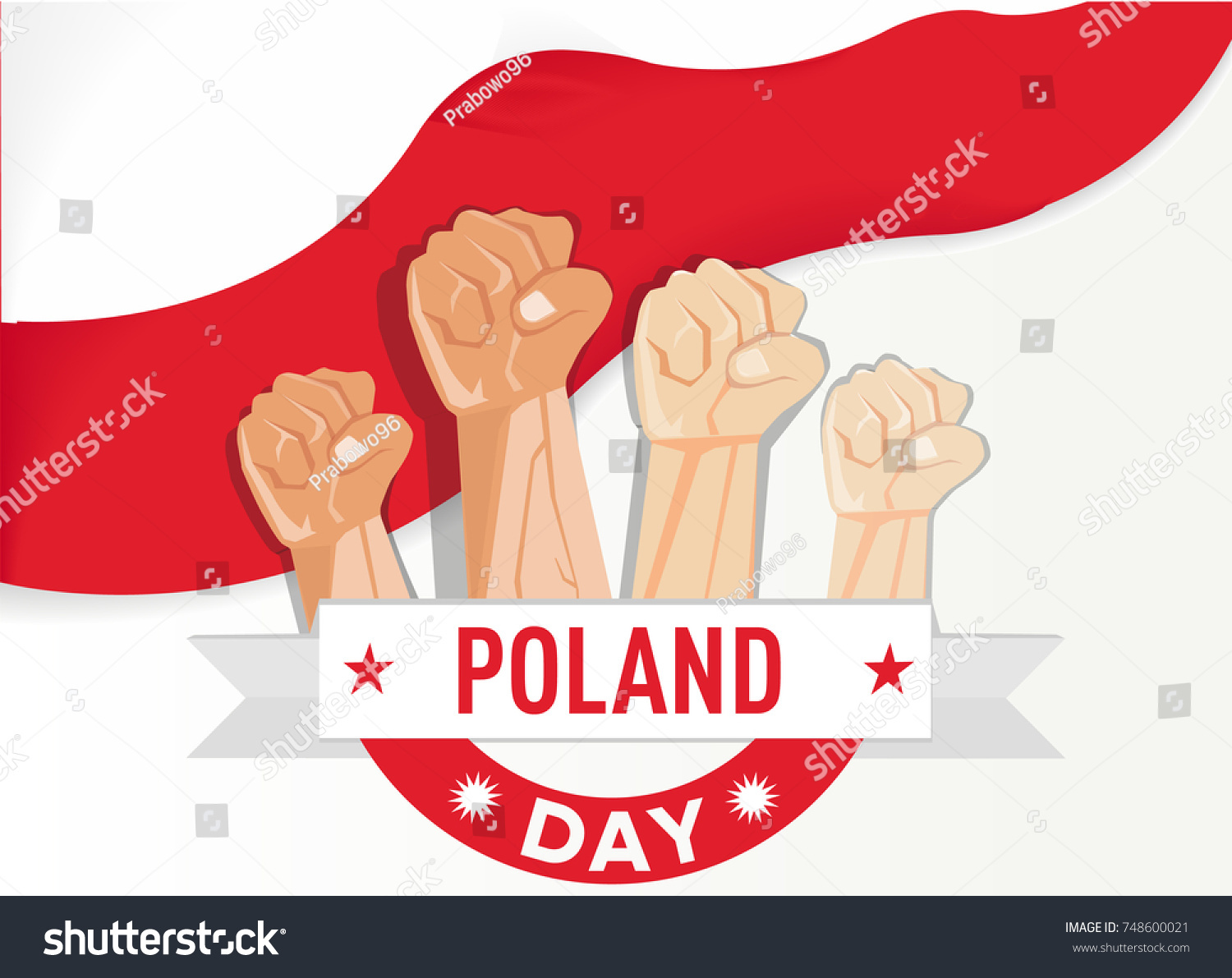 Hand fist arm symbol national awakening stock vector 748600021 hand fist arm the symbol of national awakening day and poland independence day with poland biocorpaavc