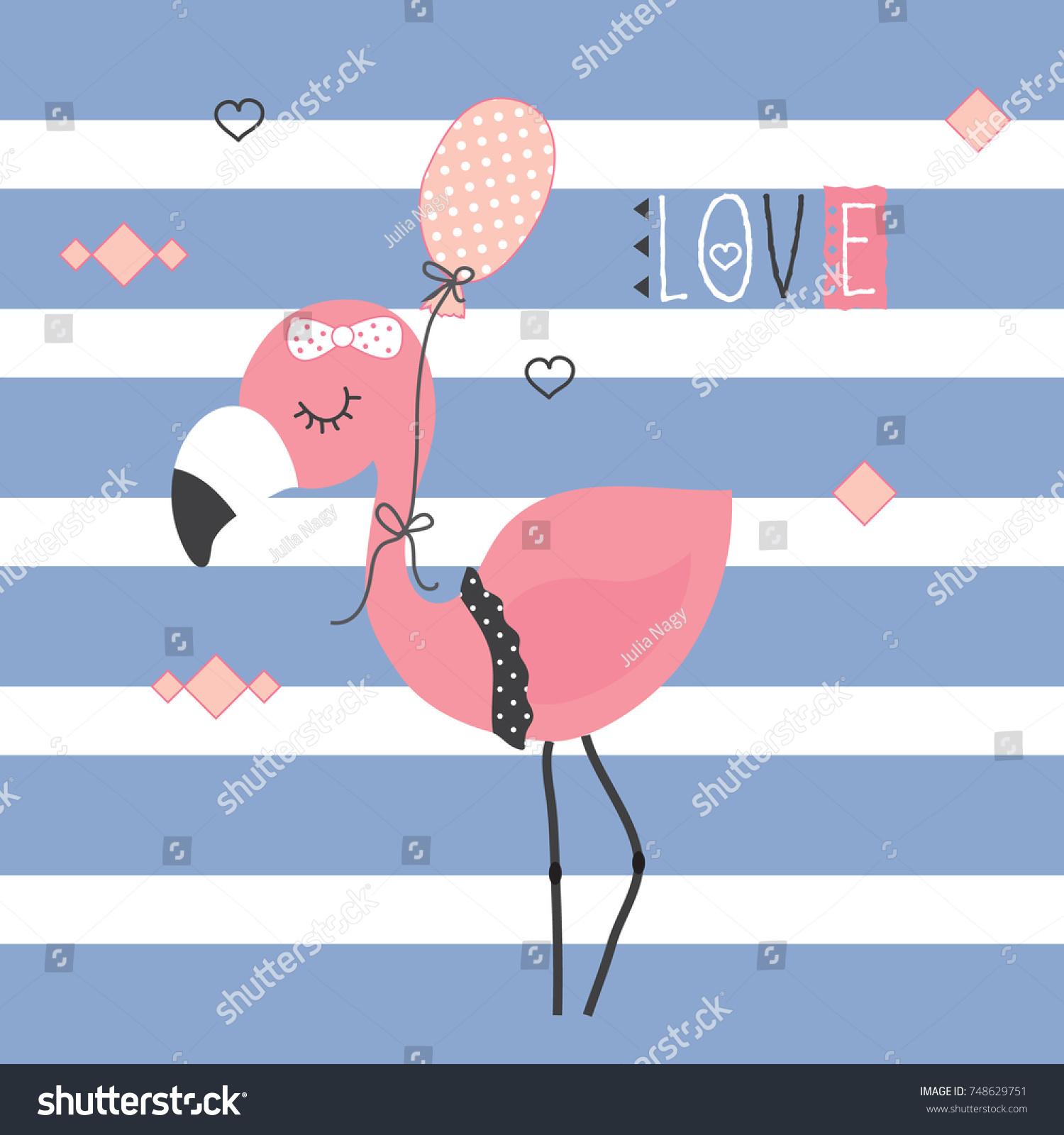 Pink Flamingo happy Birthday Card web templates landing page