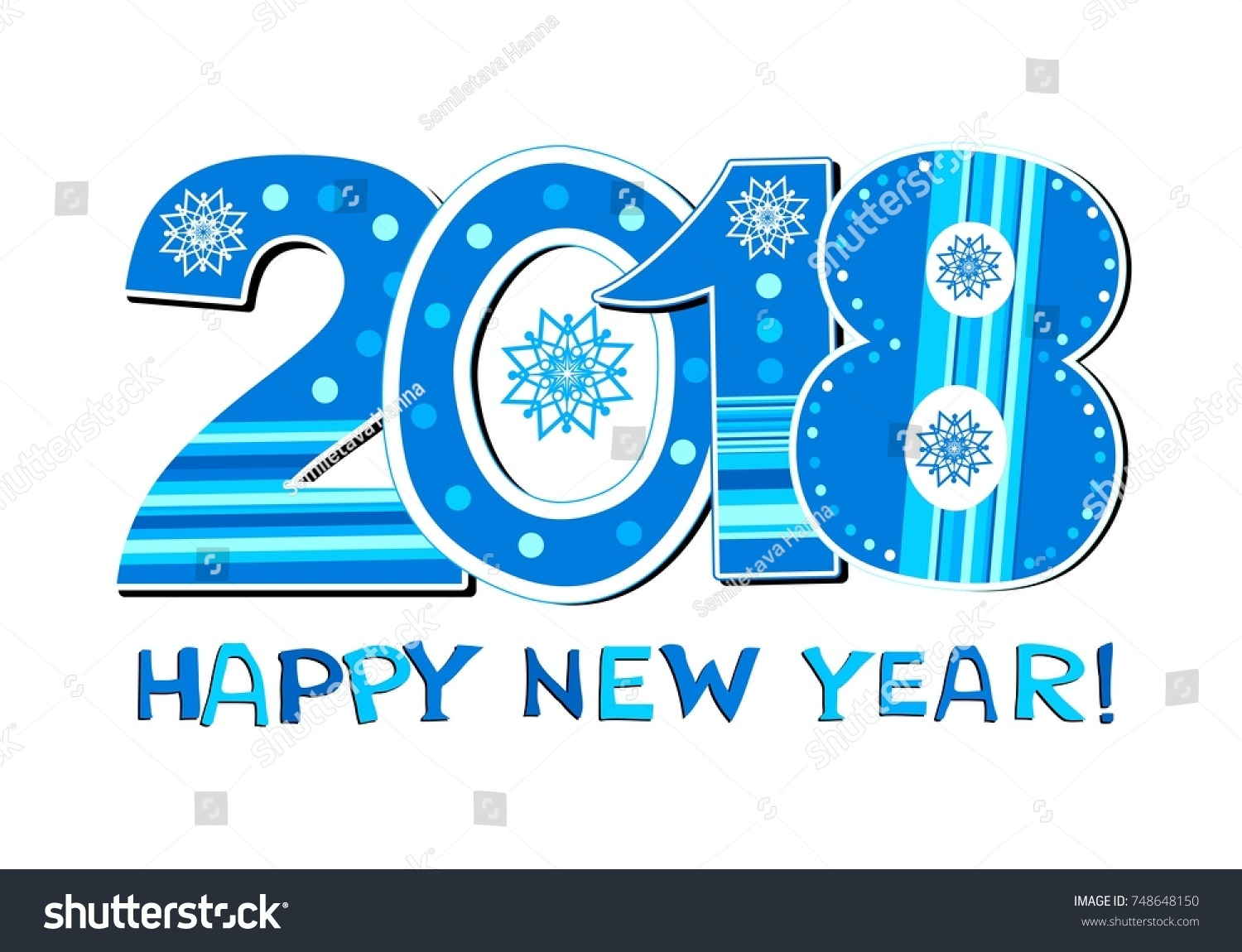 2018 happy new year greeting card or background celebration background with arabic numerals and place