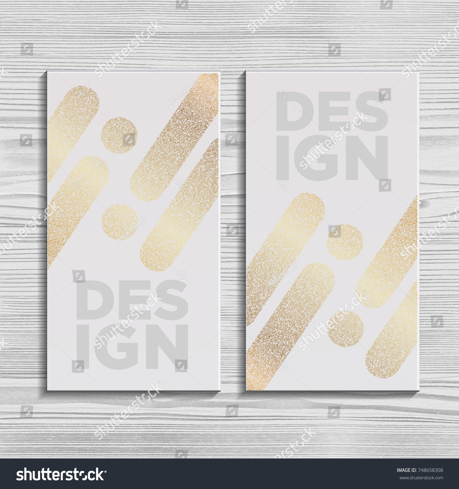 White Business Card Template Gift Cards Stock Vector 748658308 ...