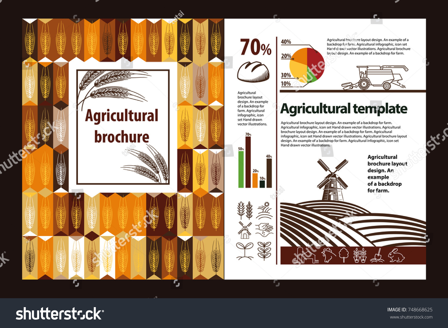 Agricultural Brochure Layout Design An Example Of A Backdrop For Farm Infographic