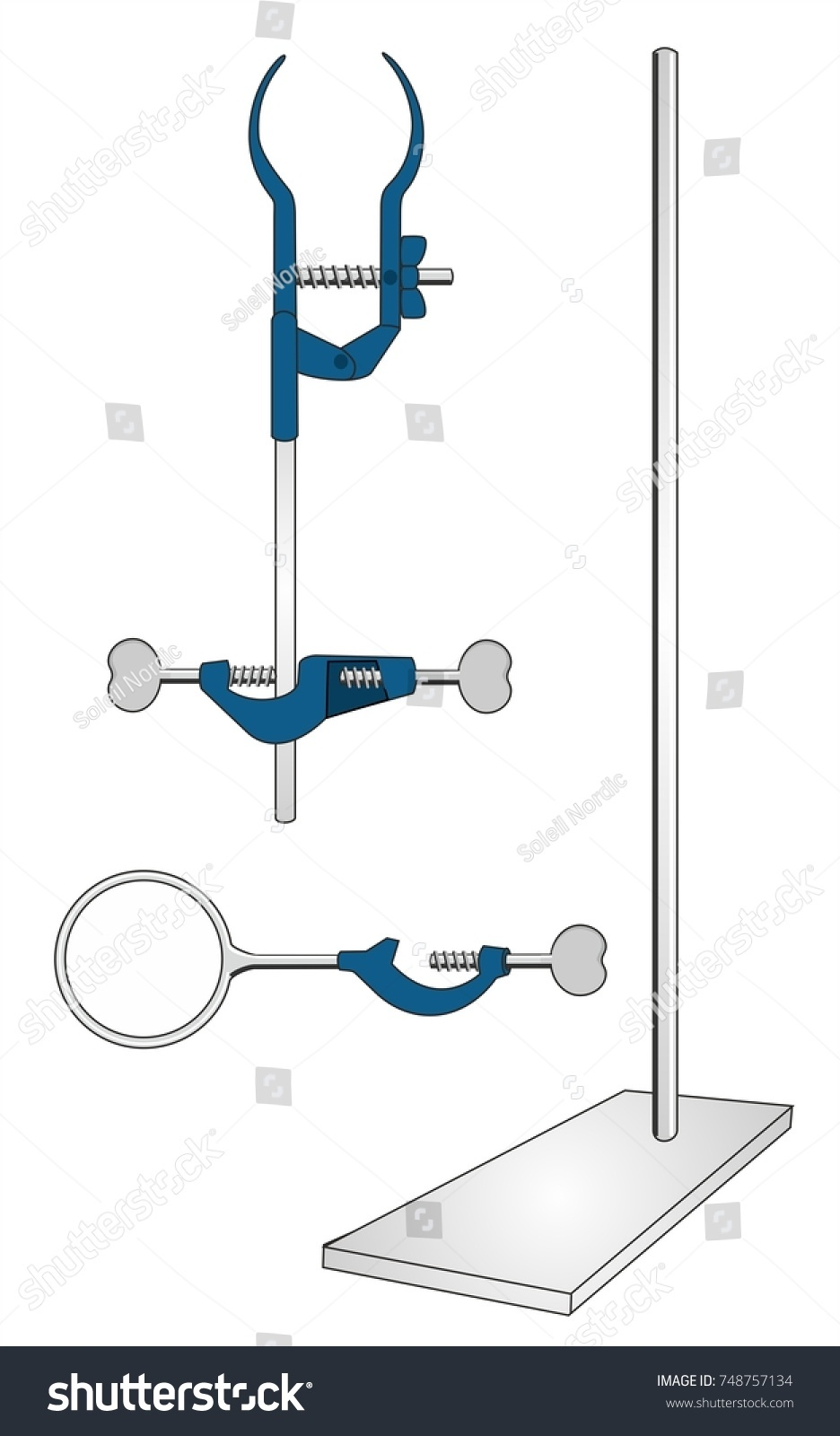 Laboratory Instruments Like Stand Clamps Iron Stock Illustration ... for Ring Stand Chemistry  76uhy
