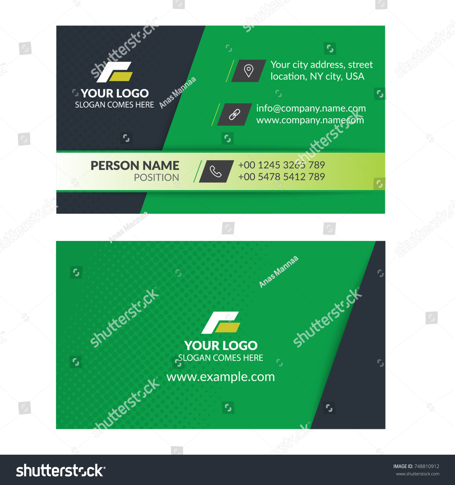Business card template arranged layers easy stock vector royalty business card template arranged layers easy to edit and modify fonts the font reheart Gallery