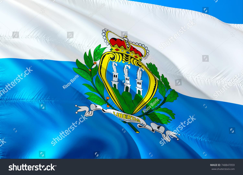 San Marino Flag Flag San Marino Stock Illustration 748847059 ...
