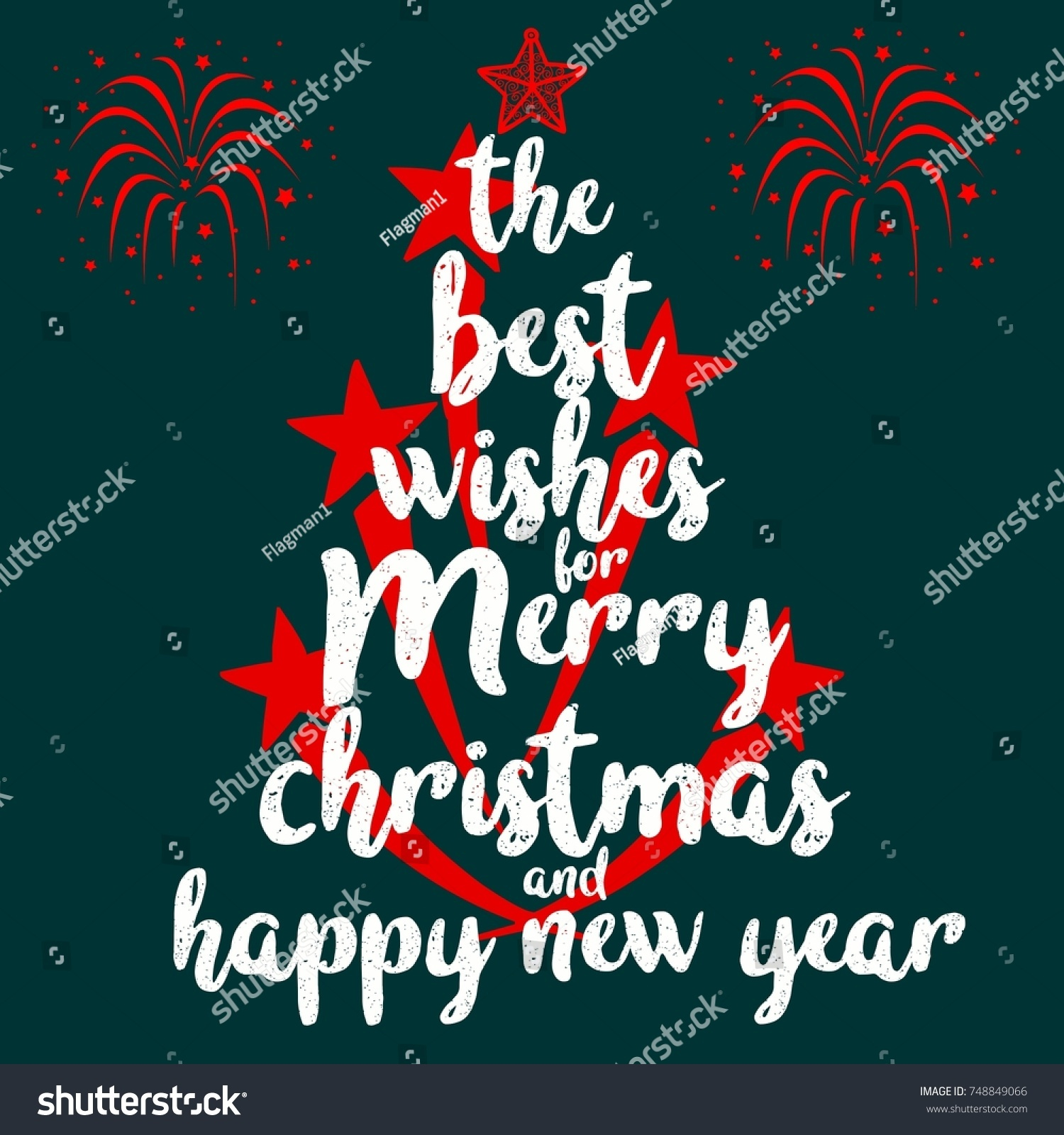 Best wishes merry christmas happy new stock vector 748849066 the best wishes for merry christmas and happy new year happy new year wish card kristyandbryce Image collections